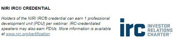 NIRI IRC Credentials Logo